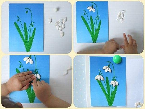 Поделка цветок малыши